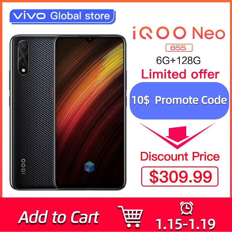 "Vivo IQOO Neo 855 Snapdragon 855 4500mAh Battery 33W Fast Charging 6.38"" Celular Mobile Phone Al Triple Cameras Cell Phones"
