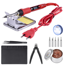 JCD Soldering iron 220V 110V 80W temperature adjustable LCD soldering iron kit ESD insulation working Mat soldering station цена и фото
