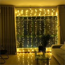 2×2/3×3/3x6m led icicle led curtain fairy string light fairy light 300 led Christmas light for Wedding home window party decor