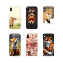 For LG G3 G4 Mini G5 G6 G7 Q6 Q7 Q8 Q9 V10 V20 V30 X Power 2 3 K10 K4 K8 2017 Cute Animals Foxes Red Fox Accessories Phone Cover(China)