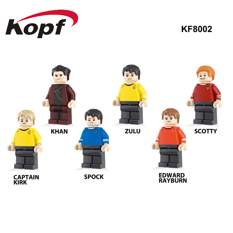 KF8002 Single Sale Building Blocks Star Captain Kirk Scotty Khan Eoward Tayburn Zulu Bricks Action Toys For Children