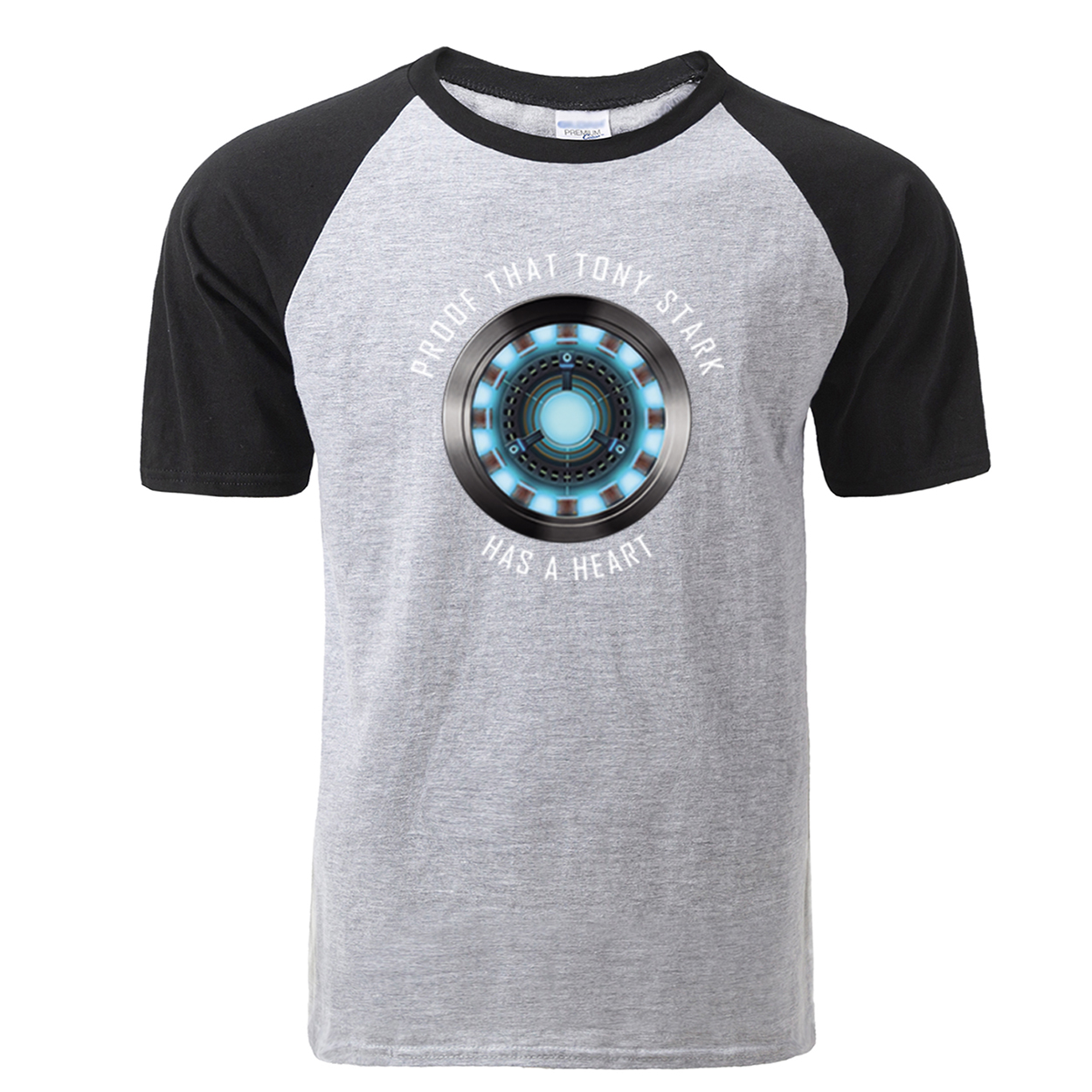 Fashion Tony Stark Tshirt Marvel Iron Man T Shirt Men Avengers Anime Summer Raglan Tshirt Streetwear Tops T Shirt Homme Clothing