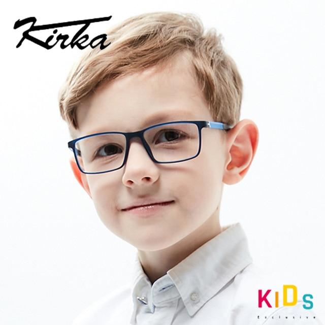 Kirka lunettes TR90 montures de lunettes pour enfants, montures de verre Flexible, doux, optique
