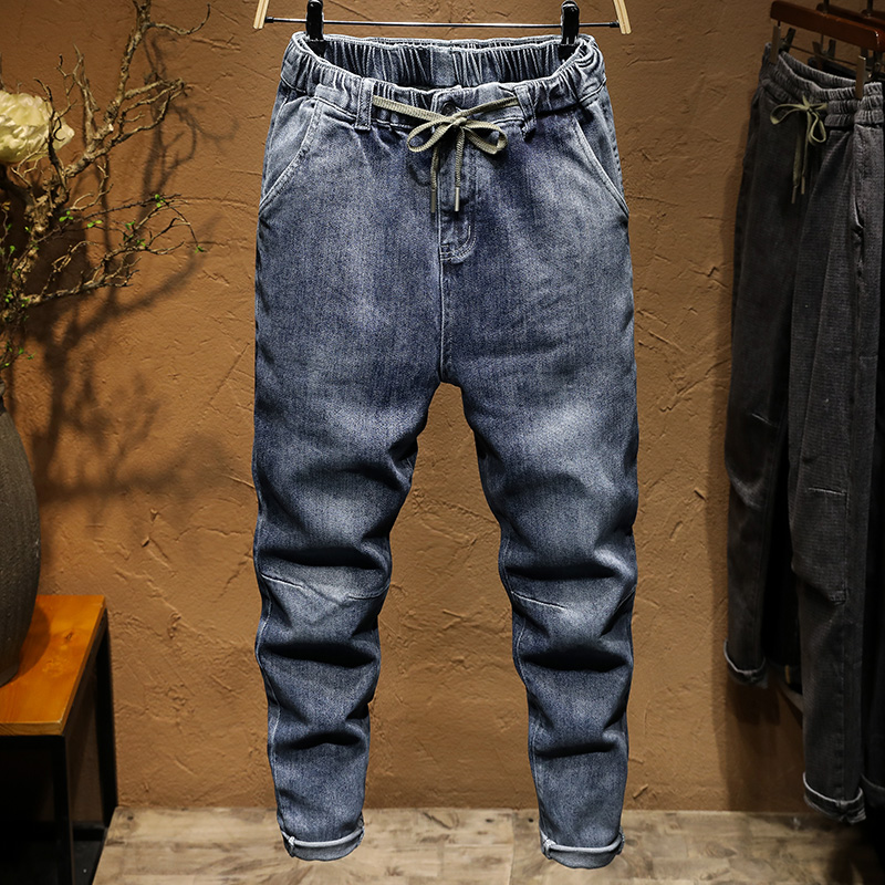 KSTUN Jogger Jeans Men say hi to the denim version of sweatpants the elastic drawstring waist and baggy legs are comfortable 11