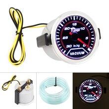 """"""" 52 мм вакуумный Измеритель для автомобиля со светодиодным дисплеем, светильник 0-30 дюймов. HG"""