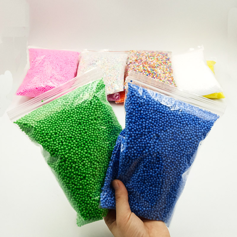 1Pack 2-4mm Colorful Foam Beads Supplies Balls Snow Mud Particles Accessories Slime Balls Small Tiny Foam Beads For Foam Filler