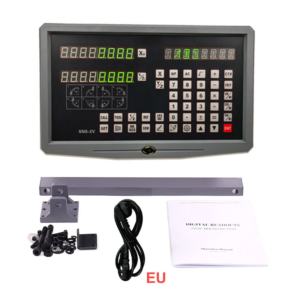 Linear Encoder/Sensor/Ruler Scale Grating 2 Axis/ 3 Axis Dro Digital Readout Display Unit For Milling Machine Lathe SNS-2V