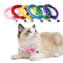 Strap Leash-Accessories Lovely Bell Necklace Buckle Collar Puppy Safe Pet-Cat-Dog-Collar