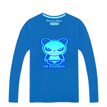 2020 koszulka dziecięca Luminous t-shirty dla chłopców dziewcząt 100 bawełna dzieci Tshirt z długim rękawem dziecko topy dziecko t-shirty 3-15Y tanie i dobre opinie Beloved Angel COTTON Nowość Tees Pasuje prawda na wymiar weź swój normalny rozmiar CTBZ025 Unisex O-neck Pełna Cartoon