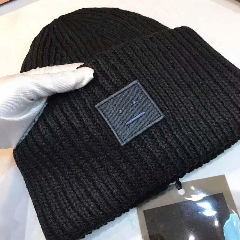 Купить теплая зимняя шапка для женщин и мужчин шерстяная смешанная
