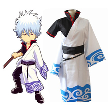 Anime Gintama Cosplay Costumes Sakata Gintoki Costume Kimono Halloween Carnival Party Silver Soul
