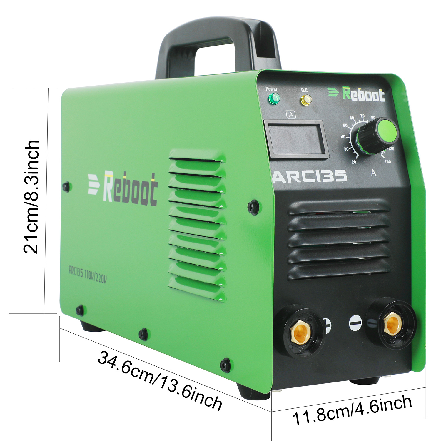 Reboot ARC Welder  ARC-135 Welding Tool DC 220V Stick Welder 135 Amp Welding Machine Portable Mini MMA Welder Inverter Welding