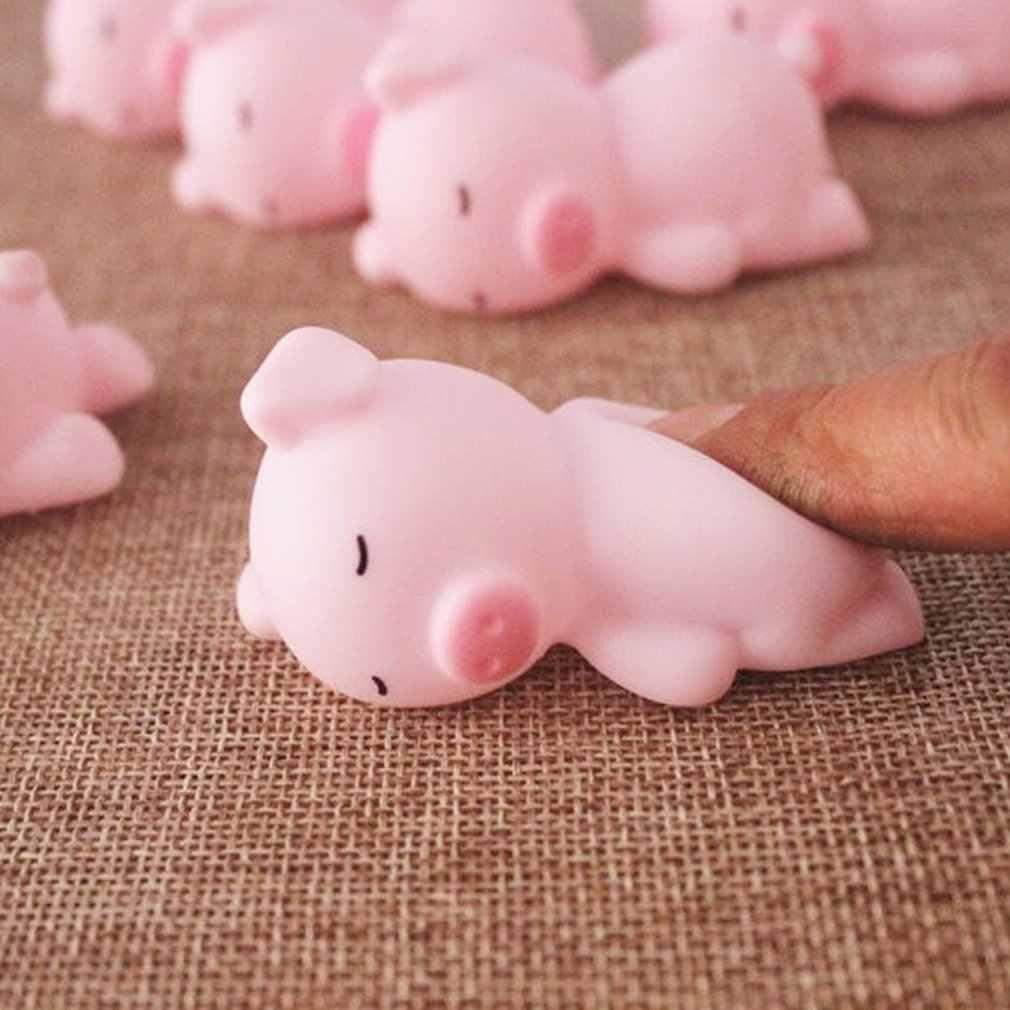 الوردي النوم خنزير الضغط الطفل الإبداعية محاكاة ساخرة تنفيس الضغط لعبة الطالب