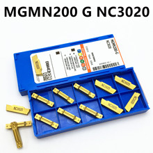 10PCS MGMN200 G NC3020 / NC3030 PC9030 2mm slotted carbide insert MGMN200-G lathe milling cutter and slotting tool korloy