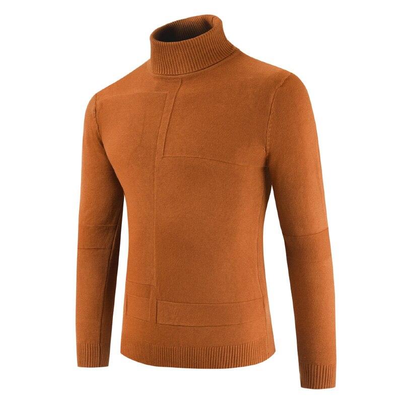 NEGIZBER 2019 Autumn Winter Men's Turtleneck Sweaters Solid Sknny Warm Pullovers Turtleneck Men Fashion Casual Sweater Men Cloth
