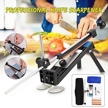 Professional Sharpener Kit Stainless Steel Fixed Angle Knife Sharpen Stone System with 4 Whetstone Kitchen Sharpening Tool Kits