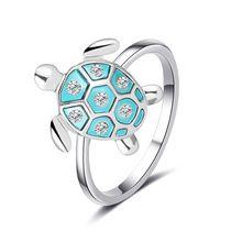 Корейская версия кольца в виде милой маленькой черепахи женское