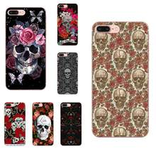 Rosa Do Crânio Para Samsung Galaxy Note 5 8 9 S3 S4 S5 S6 S7 S8 S9 S10 5G mini Mais Borda Lite Macio Tampa Do Telefone TPU Caso Coque(China)