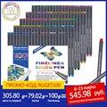 Набор ручек Fineliner, 12, 24, 36, 48, 60, 100 цветов, s, 0,4 мм, микрон, вкладыш для металлического маркера, ручка для рисования, цветной эскиз, маркер, художе...