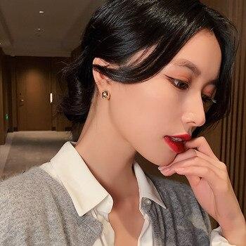 new classic small metal arc women's Earrings Fashion versatile Korean jewelry elegant Mini daily decoration stud Earrings 2