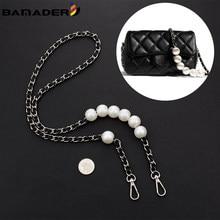 BAMADER – sangle en chaîne de perles pour sac à bandoulière pour femme, accessoire de mode en métal, adapté aux Mini sacs de marque