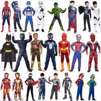 Homem aranha super-herói homem de ferro thor panthers formiga homem hulk vingadores star wars super mary maravilha mulher cosplay traje