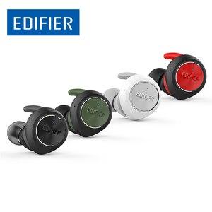 Image 1 - EDIFIER TWS3 TWS gerçek kablosuz Bluetooth V4.2 kulak içi kulaklık ile şarj kutusu ve çıkarılabilir kulak kanatları çok fonksiyonlu düğme