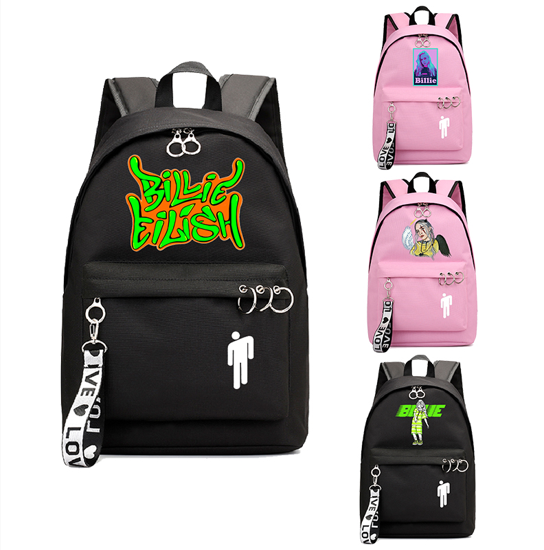 Pink Backpack Women Billie Eilish Backpack School Bags For Teenage Girls Bookbag Korean Backpack Travel Backpack Laptop Bag Pack