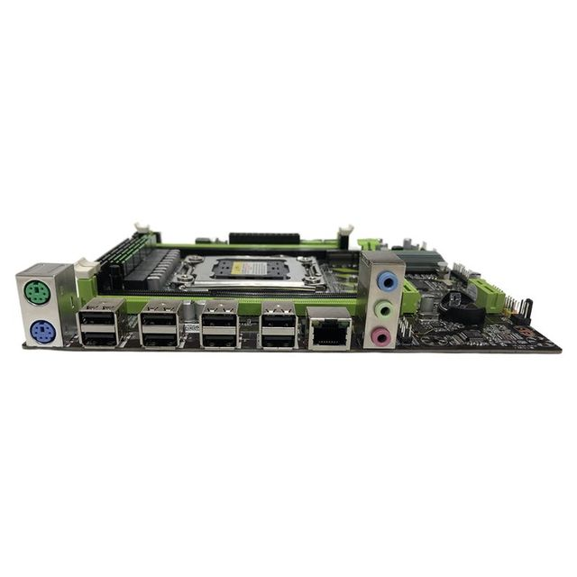 X79G Motherboard LGA 2011 DDR3 Mainboard with M.2 Interface E5 2620 CPU 2x4G Memory Card for In-tel Xeon E5 Core I7 CPUs 2