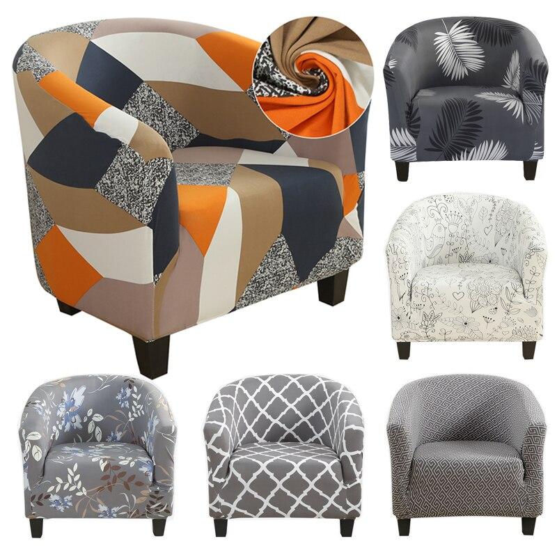 Home Tub Chair Covers Floral Elastic Armchair Single Sofa Chair Cover Slipcover.