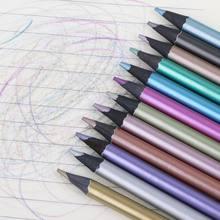 12 Uds. De lápices de colores de dibujo metalizados, no tóxicos, 12 colores