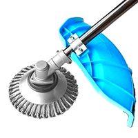 Torção Cabeça do Aparador Escova Roda de Arame Frisado Banco Grama Capina Cortador de Removedor de Poeira para Jardinagem Gramado Quintal Pátio Corte Accesso|Bastões|   -