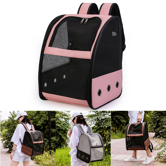 Accessories Pet Backpack Bird Parrot Travel Bag Cage Mesh Breathable Fashion Outdoor Adjustable Strap Foldable Carrier Zipper