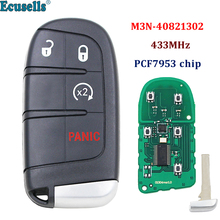 Smart Remote Key fob 3 button 2+1 buttons 433MHz PCF7953 chip for Fiat 500 500L 500X for Jeep Compass Renegade M3N 40821302