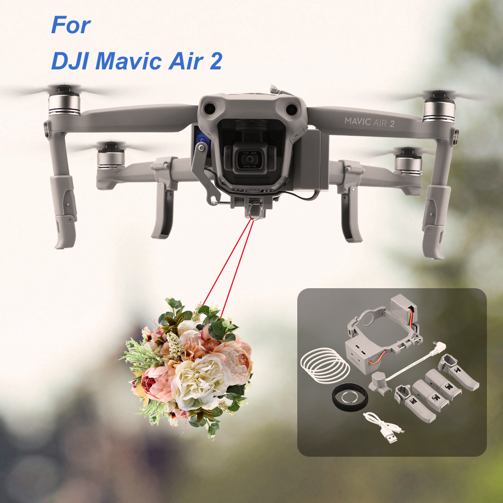 Airdrop Air Drop System for DJI Mavic Air 2 Drone Fishing Bait Wedding Ring Gift Deliver Life Rescue Remote Thrower Accessories