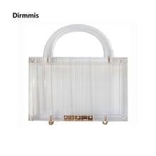 Yeni Trendy çanta marka moda kadın çanta şeffaf akrilik lüks parti balo akşam çanta kadın rahat kutu temizle debriyaj