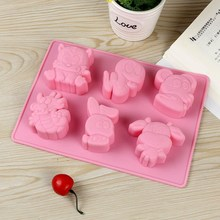 Silicone Soap Molds Cute Animal Shape Chocolate Candy Mold Sugarcraft Jelly Pudding Mould DIY Kitchen Bakeware