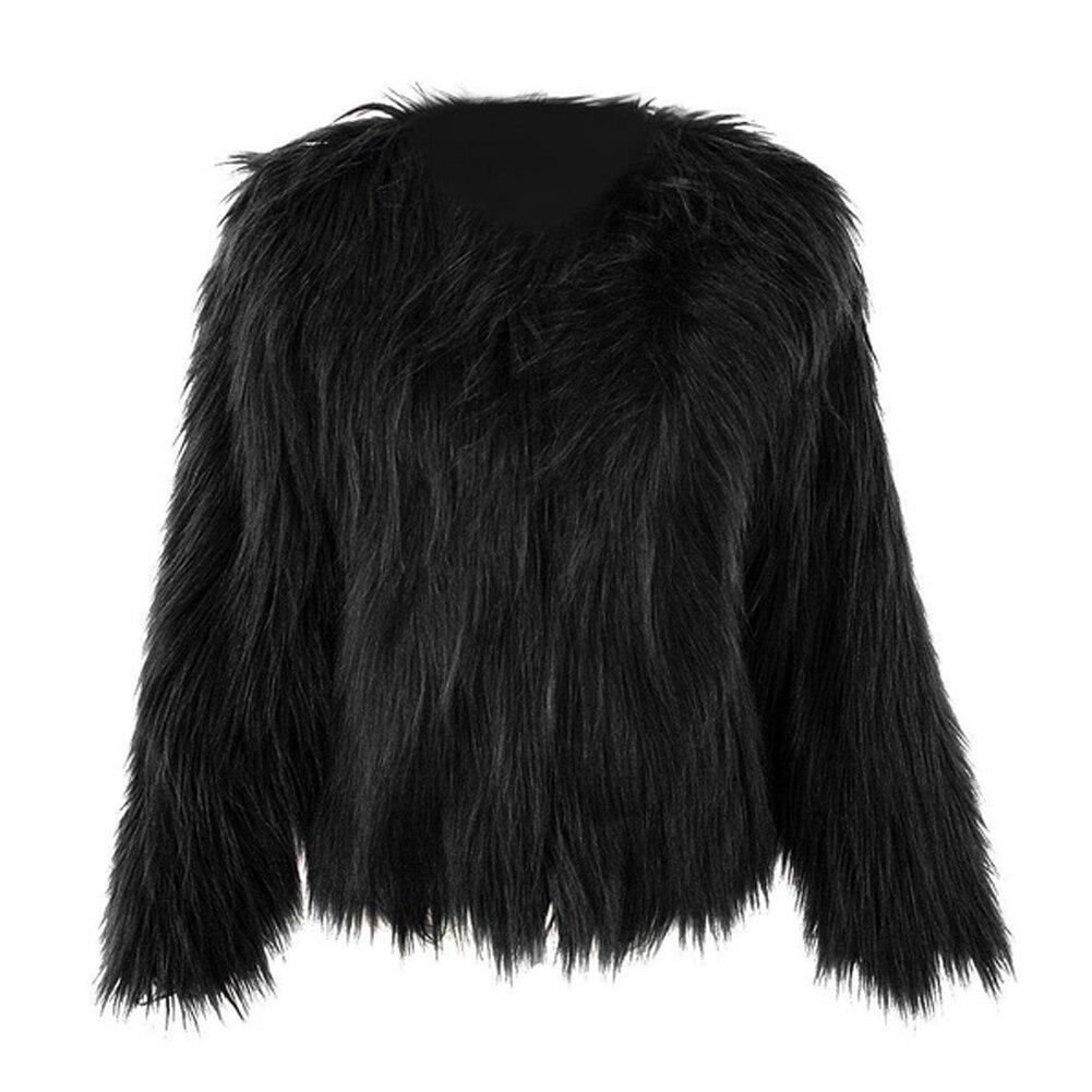 Fashion Ladies Winter Women Faux Fur Overcoat Outwear Jacket Coat