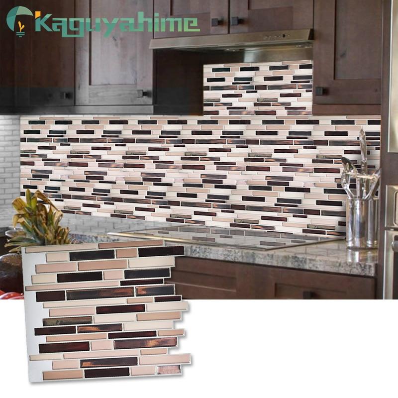Kaguyahime Auto Adesivo Mosaico Telhas da Parede Da Cozinha Adesivos À Prova D' Água Papel De Parede 3D DIY Etiqueta Para Cozinha Home Decor 30x30cm