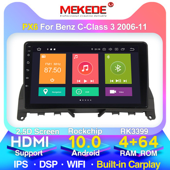4G LTE android10.0 4G+64G Car multimedia player For Mercedes Benz C Class 3 W204 S204 2006 - 2011 Built-in carplay DSP IPS BT image