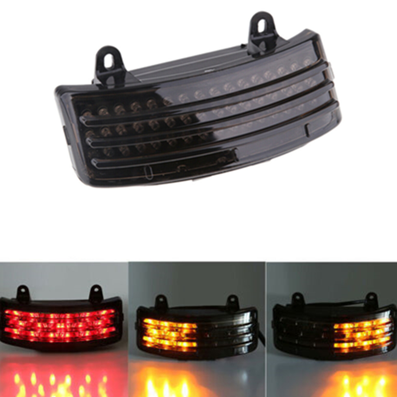 12V Motorrcycle Rear Fender Tri-Bar LED Running Turn Signal Brake Tail Light For Harley FLHX FLTRX Street Glide Touring