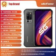 Ulefone Rüstung 11 5G Robuste Handy 8GB + 256GB Android 10 Wasserdichte Smartphone 48MP 5200mAh NFC Drahtlose Aufladen Handy