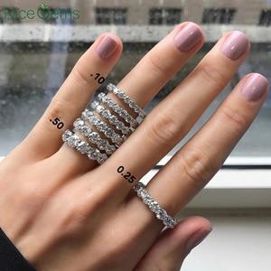 Image 5 - Круглый Муассанит NiceGems, свадебное кольцо из белого золота 585 пробы, 14 к, 3 мм/3,5 мм/4 мм/5 мм, обручальное кольцо