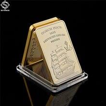 1933 Gorch Fock Deutsche Reichs Marine 999/1000 Reichs Gold Deutschland Cross Gold Bullion Bar Collect Sailboat Anchor Gift