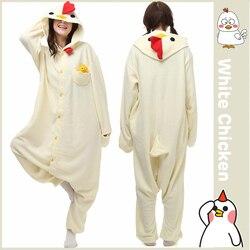 عيد الميلاد هالوين هدية عيد ميلاد الأبيض الدجاج الصوف نيسيي Homewear هوديي منامة ملابس خاصة رداء للبالغين
