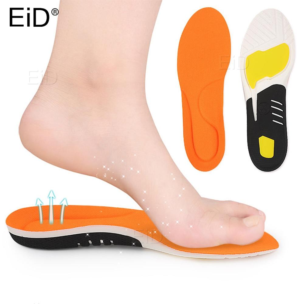 Palmilha ortopédica do esporte de eid para correr pés planos masculino feminino ortopédico sapato almofada correção pé alívio da dor sola interna para sapatos