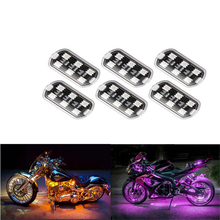Motorcycle Car RGB One for Six LED Indoor and Outdoor Decoration Atmosphere Lamp Door Projector Light