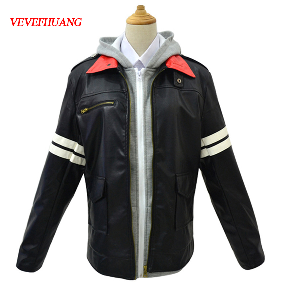 VEVEFHUANG Cosplay Costume For Prototype Alex Mercer PU Leather Long Sleeve Game Personas Men Clothes Halloween Costumes Jackets