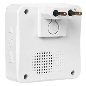 Image 4 - NEW Waterproof Solar Powered Wireless Doorbell Alert System 300M Range 52 Chimes Electric Doorbell With Led Light EU Plug