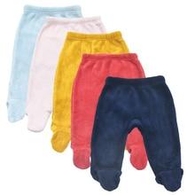 0-12 Mouths Baby Trousers Autumn Winter Solid Color Coral Velvet Babies Boy Pants Infant Strampelanzug Newborn Girls Trouser
